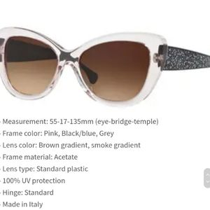 COACH 55MM CAT EYE SUNGLASSES
